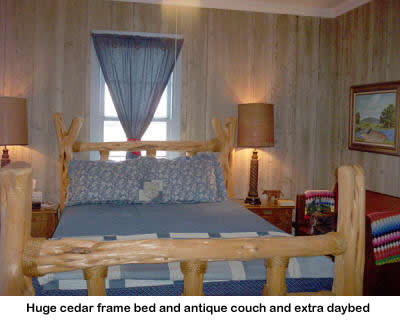 Texas Hill Country bed and breakfast bedroom.